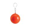 Esőkabát, gömb tokkal, narancs esőkabát