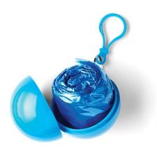 Esőkabát gömb tokkal, kék esőkabát