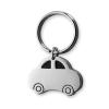 Kulcstartó, autó formájú, fém, ezüst