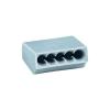 HellermannTyton Vezetékösszekötő 5 vezetékes, 0,5 - 1,5 mm² 17,5A, szürke, 1 db, HellermannTyton 148-90015
