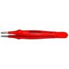 Bernstein VDE nikkelezett műszerész csipesz egyenes/kerek/széles heggyel, 145 mm, Bernstein 5-117 VDE