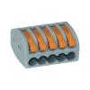 WAGO Kezelőnyelves sorkapocs 5 vezetékes, 0,08 - 4 mm² 32A, szürke/narancs, 1 db, WAGO 222-415