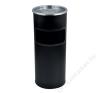 Kültéri  szemetes,  hamutartóval kombinált,  25x58 cm, fekete (UVV004) szemetes