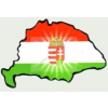 Címeres hűtőmágnes Nagy-Magyarország körvonallal 8x5 cm