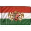 Nemzeti színű barna angyalos zászló Rúd nélkül 40x60 cm