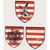 Árpádsávos pajzs, turul árpádsávos pajzs, rakamazi árpádsávos pajzs hütőmágnes (4,5*5 cm)