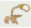 Csodaszarvas kulcstartó (40x20 mm) ezüst színű kulcstartó