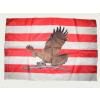 Árpádsávos barna turulos zászló 15x25 cm, 40 cm-es műanyag rúddal