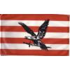 Árpádsávos fekete turulos zászló 60x90 cm