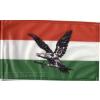 Nemzeti színű fekete turulos zászló 40x30 cm, 60 cm-es farúddal