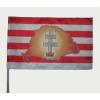 Árpádsávos Nagy- Magyarországos kettőskeresztes zászló 15x25 cm, 40 cm-es műanyag rúddal