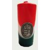 Nemzeti színű tuskógyertya 12 cm, ón címer matricával (3,2x4 cm)
