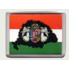 Fekete Nagy-Magyarország angyalos hűtőmágnes (műanyag keretes)
