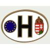 Öntapadó papír külső matrica, ovális EUS -H betűs (12X8 cm)