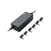 Trust Netbook Adapter - 65W (c.sz:16665; 9.5-20V kimenet; 6 csatlakozó; fekete)