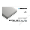 Freecom SSD (külső memória), 256GB, USB 3.0, FREECOM Mobile Drive Mg, ezüst (SFM256GMG)