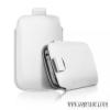 CELLECT iPhone 4/4S méretű slim bőr tok, Fehér
