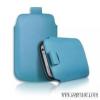 CELLECT iPhone 4/4S méretű slim bőr tok,Kék