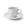 . Kávés készlet, bögre alátéttel , 100 ml, 6 db, fehér