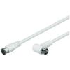 Goobay Antenna hosszabító kábel F/egyenes gyorscsatlakozóval, 1,5 m, goobay