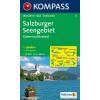 WK 17 - Salzburger Seengebiet turistatérkép - KOMPASS