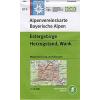 Estergebirge; Herzogstand, Wank turistatérkép - Alpenvereinskarte BY09