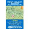 Prealpi e Dolomiti Bellunesi térkép - 024 Tabacco
