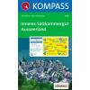 WK 020 - Inneres Salzkamergut - Ausseerland turistatérkép - KOMPASS