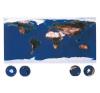 A Föld felhőtlen képe a világűrből falitérkép - Stiefel térkép