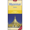Myanmar (Burma) térkép - Nelles
