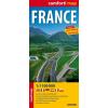 Franciaország Comfort térkép - ExpressMap