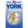 York mini térkép - A-Z