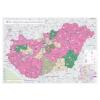 Magyarország telefontérképe falitérkép - Stiefel