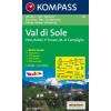 WK 119 - Val di Sole turistatérkép - KOMPASS