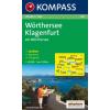 WK 061 - Wörthersee - Klagenfurt turistatérkép - KOMPASS