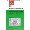 Allgäuer- Lechtaler Alpen, Ost turistatérkép - Alpenfereinskarte 2/2