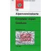 Ennstaler Alpen, Gesäuse turistatérkép- Alpenvereinskarte 16