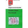 Ötztaler Alpen, Kaunergrat turistatérkép - Alpenvereinskarte 30/3
