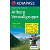 WK 33 - Arlberg - Verwallgruppe turistatérkép - KOMPASS