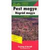 Pest és Nógrád megye térkép - f&b AK 1006
