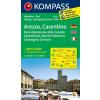 WK 2459 - Arezzo - Casentino turistatérkép - KOMPASS