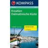 WK 2900 - Dalmát tengerpart (3 részes) turistatérkép - KOMPASS
