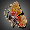 Arannyal bevont pillangó bross ausztriai kristályokkal + AJÁNDÉK DÍSZDOBOZ