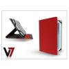 "V7 Apple iPad Mini/iPad Mini 2 + univerzális tablet tok 7-8"" méretű készülékig - V7 Universal Folio Stand - red"
