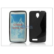 Alcatel One Touch Sribe HD OT-8008D szilikon hátlap - S-Line - fekete tok és táska