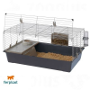 Ferplast Rabbit 100 nyúl- és tengerimalac ketrec - kb. H 97 x Sz 60 x M 45,5 cm (Szín: szürke)