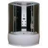 Sanotechnik Cikkszám: TR20 Salsa 120x120 íves hidromasszázs zuhanykabin elektronikával