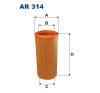 Filtron levegőszűrő AR314 1db levegőszűrő