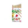 ICO Színes ceruza készlet, háromszögletű, vastag, nat
