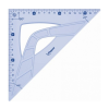 "MAPED Háromszög vonalzó, műanyag, 45°, 26 cm, MAPED ""Gr"